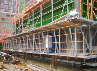 toepassing construction veiligheidshekken
